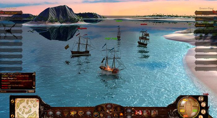 Wind of Luck - клиентская онлайн игра про морские сражения в стиле Worms
