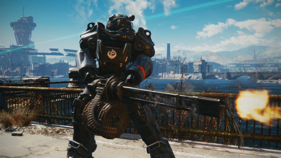 Fallout 4 - игра с прокачкой персонажа и оружия на ПК